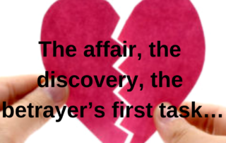 The affair, the discovery, the betrayer's first task…