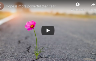 Hope is more powerful than fear - Join me for a 30 Day Challenge