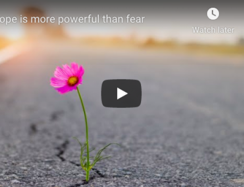 Hope is more powerful than fear – Join me for a 30 Day Challenge.